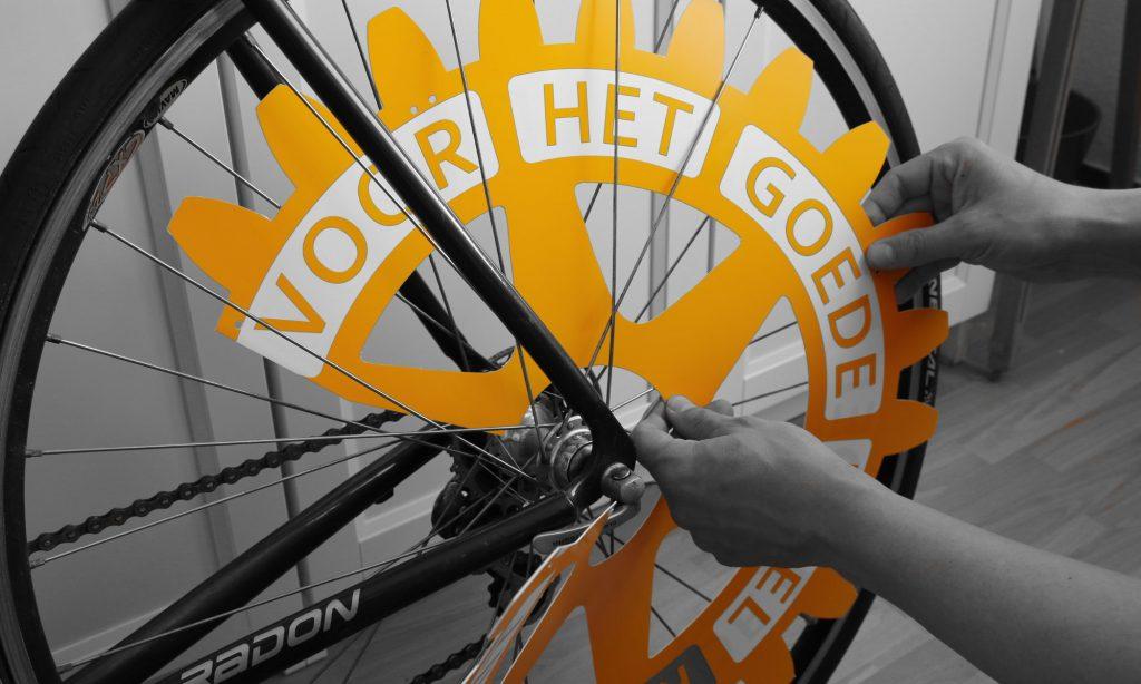 Installatie van het Rotarywiel
